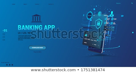 3d illustration: Credit card and mobile phone Stock photo © kolobsek