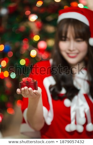 beautiful woman with motherboard Stock photo © zastavkin
