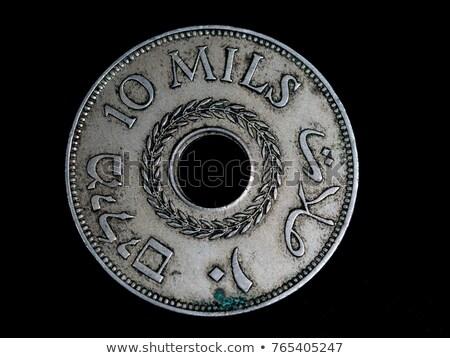 argent · pièce · horizontal · brillant · dollar - photo stock © eldadcarin