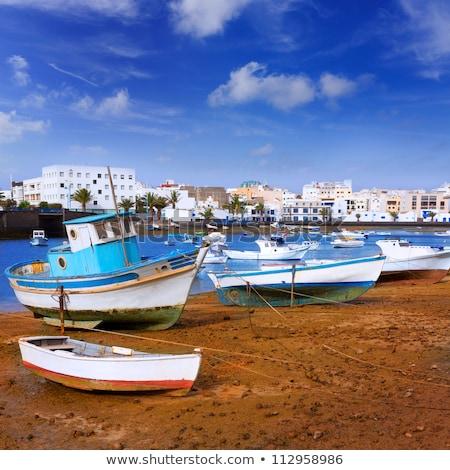 white houses in arrecife lanzarote stock photo © meinzahn