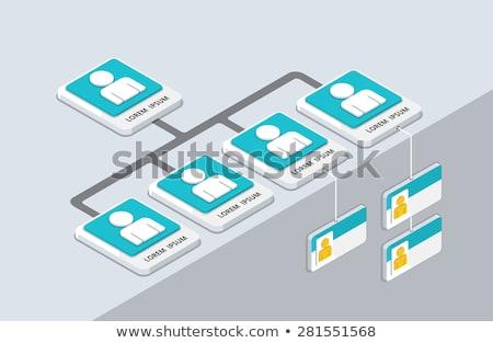 Isometric Organizational Chart Stock photo © cteconsulting