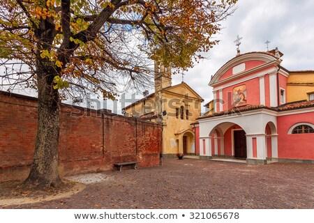Small plaza in italian town of Barolo. Stock photo © rglinsky77