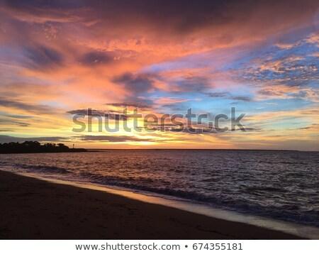 miasta · Szkocji · późno · popołudnie · światło · słoneczne · plaży - zdjęcia stock © trgowanlock