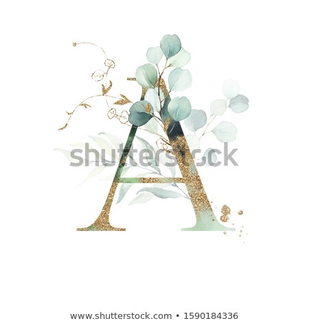 Green Leaves Sign on Alphabet Background. Stock photo © tashatuvango
