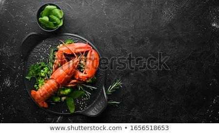 グルメ · 焼き · ロブスター · 野菜 · レストラン - ストックフォト © jrstock