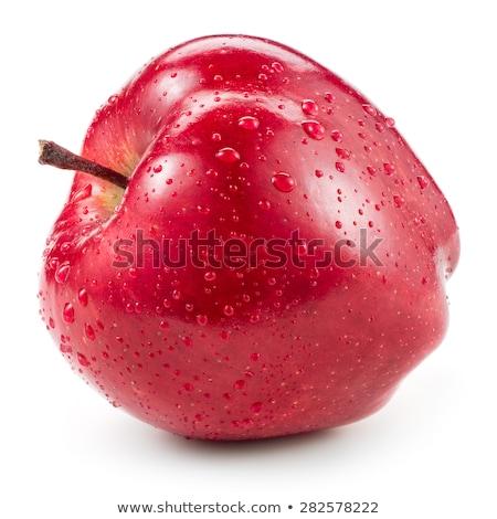 molhado · maçã · vermelha · maduro · velho · comida - foto stock © frank11