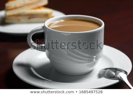 Bianco mug piattino illustrazione alimentare design Foto d'archivio © dvarg
