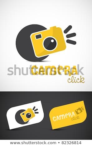 Soyut parlak kamera ikon film dizayn Stok fotoğraf © rioillustrator