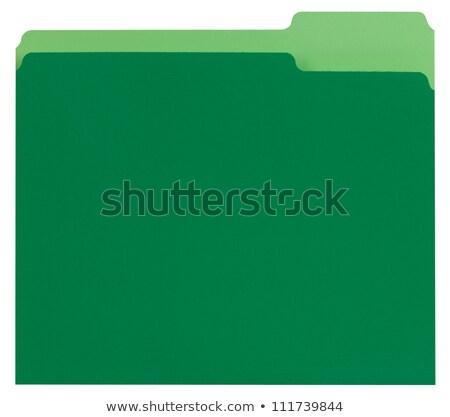 Green File Folders Stock photo © creisinger