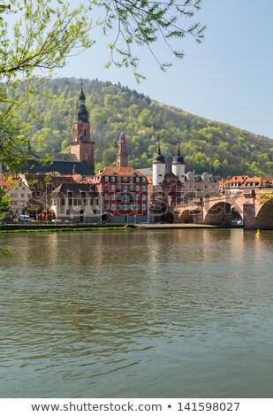 oude · brug · stad · Duitsland · middeleeuwse · leidend - stockfoto © backyardproductions