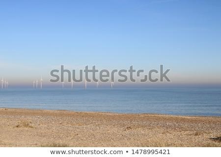 Wind turbines over sand dunes Stock photo © DonLand