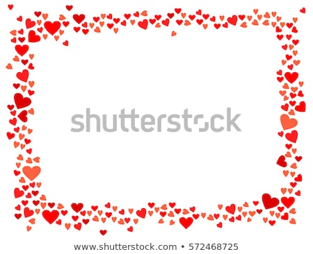 díszes · keret · szív · űrlap · illusztráció · hasznos - stock fotó © milsiart