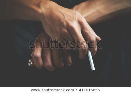 Nikotin dohány függőség cigaretta metafora körmök Stock fotó © lunamarina