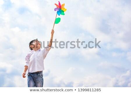 Portrait of Boy holding Pinwheel Stock photo © zzve