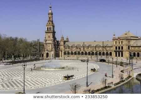 Detail of Palacio Espanol in Seville, Spain Stock photo © aladin66