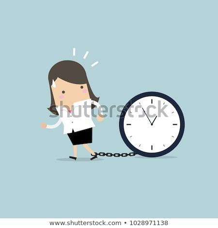 disciplina · oficina · retrato · hermosa · jóvenes · mujer · de · negocios - foto stock © dolgachov
