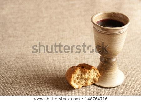Ultimo cena ancora vita calice vino pane Foto d'archivio © MKucova