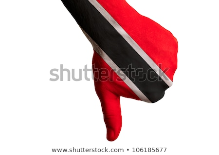trinidad tobago national flag thumbs down gesture for failure ma Stock photo © vepar5