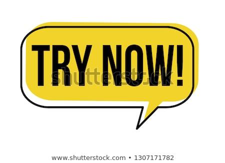 Try Now. Business Background. Stock photo © tashatuvango