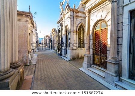 religioso · estátua · velho · cemitério · vintage · imagem - foto stock © faabi