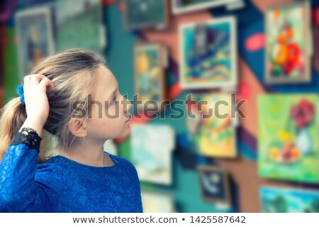 child looking at painting Stock photo © gewoldi