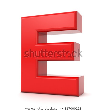 Stock photo: Red 3D Letter E.