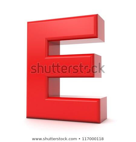 Rot 3D Kunststoff isoliert weiß Stock foto © tashatuvango