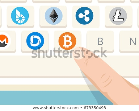 Bitcoin symbool witte internet valuta Stockfoto © stevanovicigor