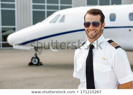 Portrait of confident pilot Stock photo © AndreyPopov
