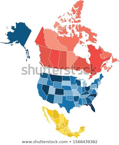 Saskatchewan Canada sympathiek web design kaart knop Stockfoto © speedfighter