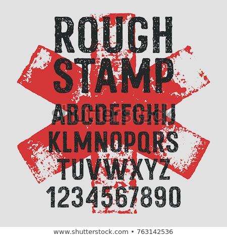 Rush stamp grunge Stock photo © burakowski