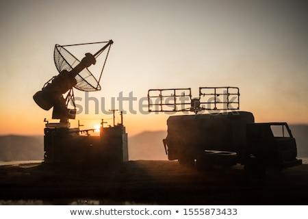 Defensie Rood witte veiligheid veilig Stockfoto © chrisdorney