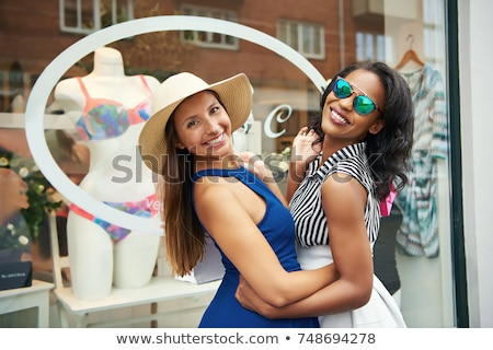 Vivacious chic African American woman Stock photo © dash