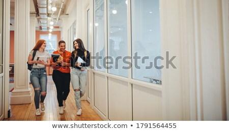 studenten · samen · bespreken · college · naar - stockfoto © adam121