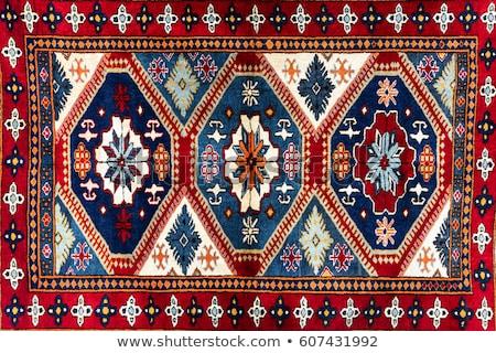 Stok fotoğraf: Türk · halı · arka · plan · sanat · kırmızı · Asya