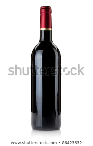 red wine bottle with grapes and green leaf stock photo © loopall