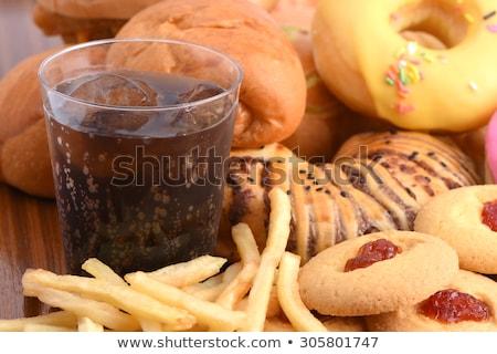 Cola verre plaque alimentaire boire sucre Photo stock © russwitherington