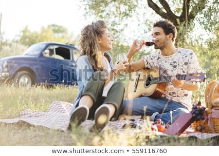 Kraju piknik żywności człowiek kobiet Zdjęcia stock © monkey_business