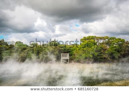 温泉 政府 公園 壁 にログイン 春 ストックフォト © backyardproductions