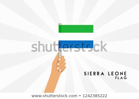 Sierra Leone Small Flag on a Map Background. Stock photo © tashatuvango
