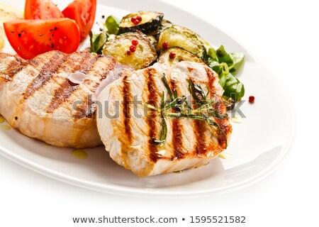 жареный ветчиной продовольствие ресторан мяса жира Сток-фото © Makse
