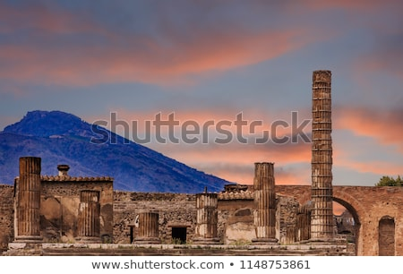 Ancient Ruins Of Pompeii Stock photo © Kacpura
