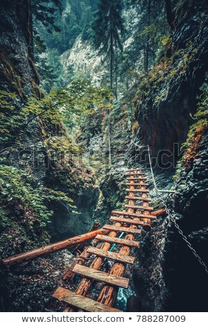dangereux · montagne · chemin · photos · difficile · Voyage - photo stock © 1Tomm
