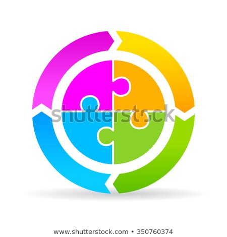 Continuous Improvement Cycle on Puzzle illustration Stock photo © jaylopez
