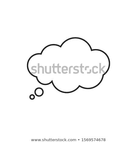 Burbuja de pensamiento tiza pizarra trabajo ciencia Foto stock © nito