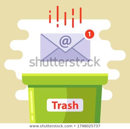 spam · 3D · gerado · quadro · dentro · mala - foto stock © flipfine