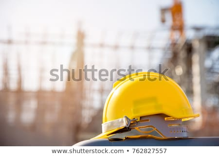 Hard hat on a construction site Stock photo © franky242