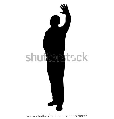 прощание · приветствую · жест · женщину · знак - Сток-фото © Slobelix