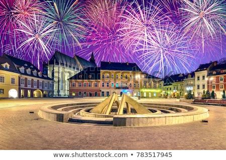 új · év · 2012 · tűzijáték · 3d · illusztráció · új · évek - stock fotó © pixachi