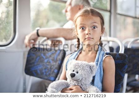 面白い オープン 少女 トラム 小 驚いた ストックフォト © Kor